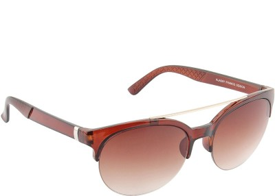 IRAYZ 1220 Round Sunglasses(Brown)
