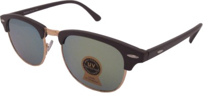 Euro Trend Reflective Golden Wayfarer Sunglasses
