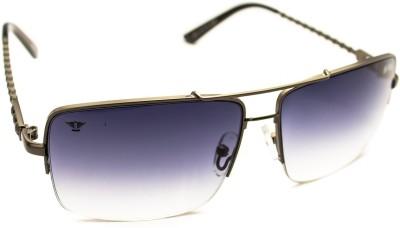 Abqa Dual Gradient Hi Quality Premium Limited Edition With Skull Designs On Frame Arm Rectangular Sunglasses