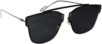 Zaira Diamond DIOR-DR0035 Oval Sunglasses(Black)