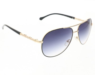 Vast 1802_men_women_black_gold_aviator Aviator Sunglasses(Grey)