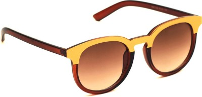 6by6 SG1548 Round Sunglasses(Brown)