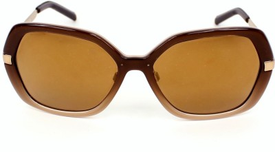 Burberry BE4153Q34266H Oval Sunglasses(Brown) at flipkart