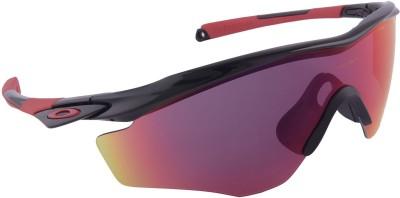 Oakley M2 Frame XL Polished Black w/ Prizm Road Wrap-around Sunglasses
