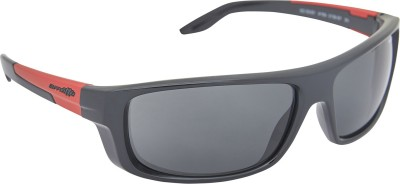 Arnette AN_4159_BLKBLK Rectangular Sunglasses(Black)
