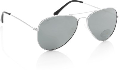 Fastrack M138BK4 Aviator Sunglasses(Silver)