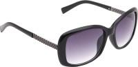 Eyekandy stylish cateye gradient Cat-eye Sunglasses(Black)