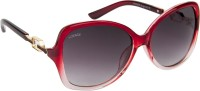 Voyage Z8506MG13341 Over-sized Sunglasses(Red)