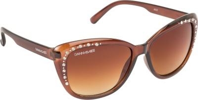 Danny Daze D-2534-C2 Over-sized Sunglasses(Brown)
