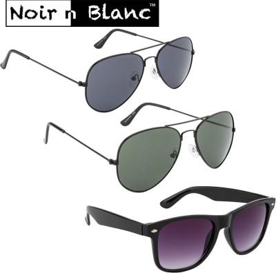 Noir n Blanc Aviator, Wayfarer Sunglasses