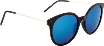 Voyage 6037MG1988 Round Sunglasses(Blue)