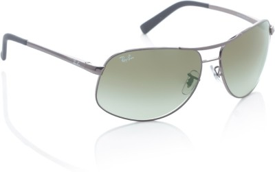 Ray-Ban 0RB3387I004/8E64 Rectangular Sunglasses(Green) at flipkart