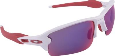 Oakley Flak 2.0 Polished White w/ Prizm Road Wrap-around Sunglasses