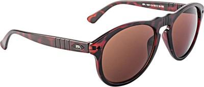 Farenheit 1021-C4 Round Sunglasses(Brown)
