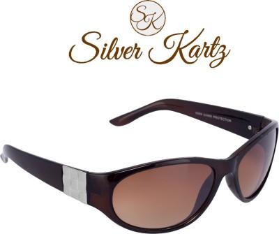 Silver Kartz Luxury Side-Square Metal Wayfarer, Over-sized Sunglasses