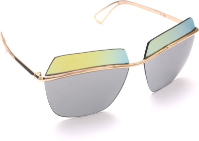 6by6 SG982 Rectangular Sunglasses(Multicolor)