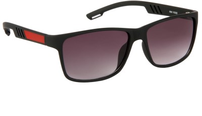 Cristiano Ronnie Black & Red Wrap-around Sunglasses