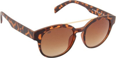 Funky Boys 3023-C4 Round Sunglasses(Brown)