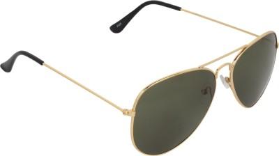NB Golden Green Good Look Aviator Sunglasses