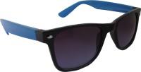 Flash 2014_Shiny_Blk_Grey_Blue Wayfarer Sunglasses(Grey)