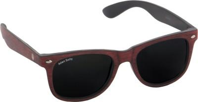 Allen Solly Wooden Texture with Mineral Glass Wayfarer Sunglasses