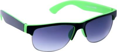 Gansta Gansta ZE-1024 Black & Green wayfarer sunglass with gradient lens Wayfarer Sunglasses(Grey)