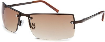 Kenneth Cole KC1038@00067 Rectangular Sunglasses(Brown)