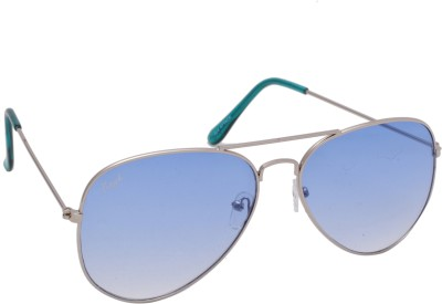 Floyd 028_SIL_DRK_BLUE_GRN Aviator Sunglasses(Blue, Green)