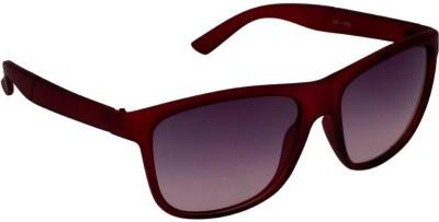 Gansta Gansta Gn-11032 Rectangle Red Sunglass Wayfarer Sunglasses(Brown)