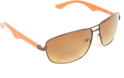 6by6 SG404 Rectangular Sunglasses(Brown)