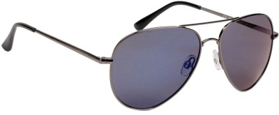 Polaroid P4139C S3TKF Aviator Sunglasses(Grey, Blue)