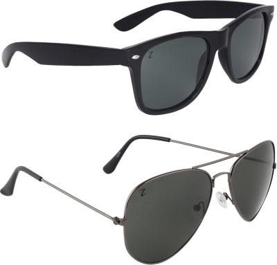 Zyaden COM34 Wayfarer, Aviator Sunglasses(Multicolor)