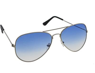 Vast Aviator_silver_blue Aviator Sunglasses(Blue)