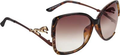 Zyaden SWA172 Over-sized Sunglasses(Brown)