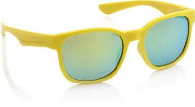 Joe Black JB-486-C5 Wayfarer Sunglasses(Yellow, Green)
