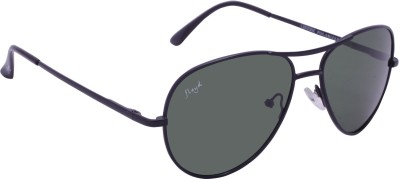 Floyd 121042_BLACK_GREEN Aviator Sunglasses(Green)