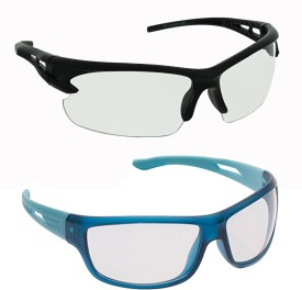 Vast Combo Of Driving And Biking Sports Sunglasses(Clear)