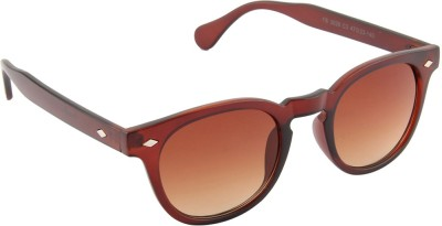 Funky Boys 3029-C3 Wayfarer Sunglasses(Brown)