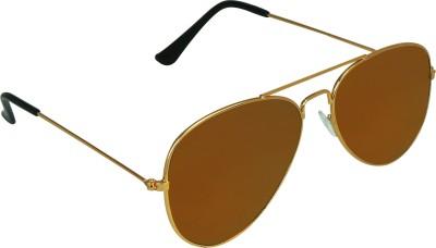 Garmor (8903522114625 /Brown Color Silver Frame) Aviator Sunglasses