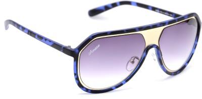 Amaze Medium Blue Oval Sunglasses