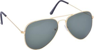 dM GOLD-GREEN Aviator Sunglasses