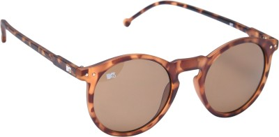 MTV 118-C2 Round Sunglasses(Brown)