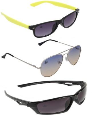 ABLOOM Wayfarer, Aviator, Wrap-around Sunglasses