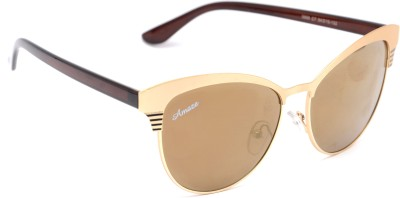 Amaze AM0806 Oval Sunglasses(Brown)