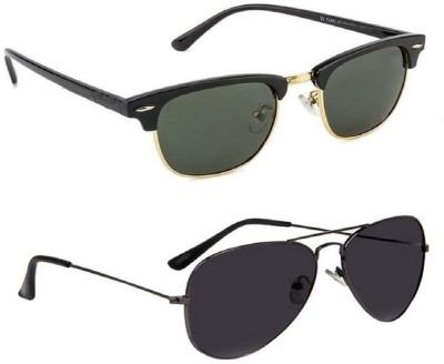 Simran Wayfarer, Aviator Sunglasses