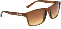 Red Knot COM-106-MBRN Rectangular Sunglasses(Brown)