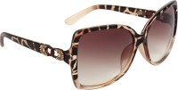 Zyaden SWA177 Over-sized Sunglasses(Brown)