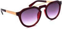 Stacle Stacle ST D1583 Red Round Sunglasses(Grey)