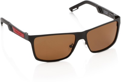 Fastrack M101BR3P Rectangular Sunglasses(Brown)