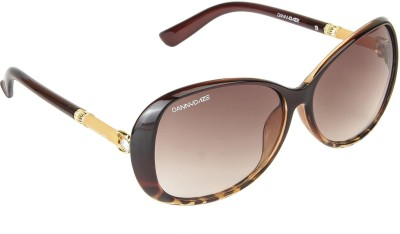 Danny Daze D-274-C2 Over-sized Sunglasses(Brown)